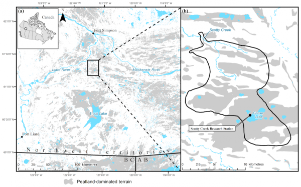 Location of Scotty Creek basin, Northwest Territories, Canada
